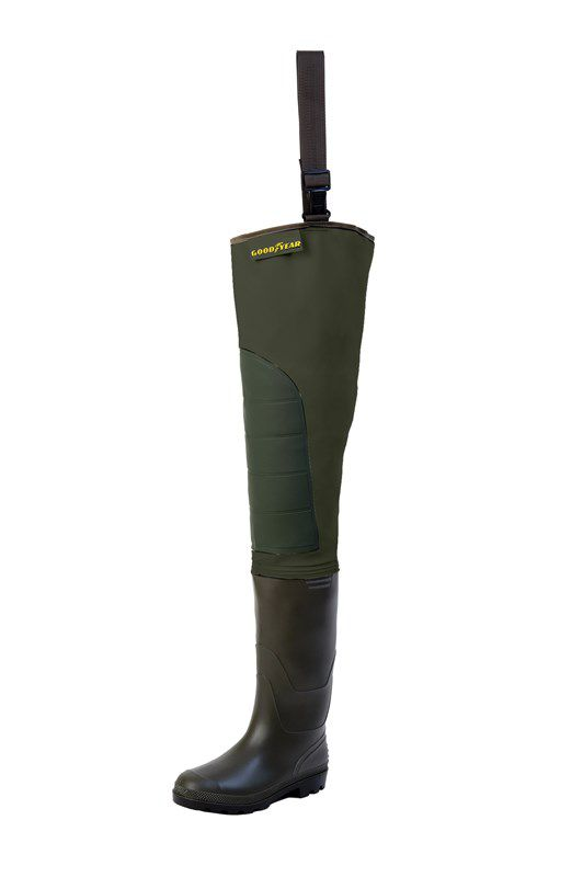 Brodící nohavice Goodyear Hip Waders Cuissarde SP Green